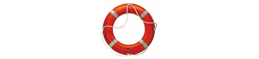 Bouée de sauvetage, matériel de sécurité