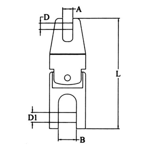 Jonction chaîne de 9 à 10 mm